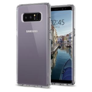 Protect your Samsung Galaxy Note 8 with the unique Ultra Hybrid clear bumper from Spigen. Complete with a clear back and air cushion technology to show off and protect your Galaxy Note 8's sleek, modern design.
