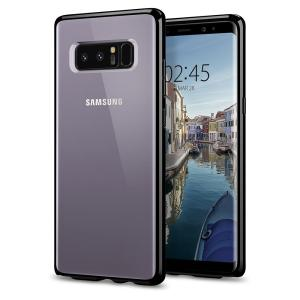 Protect your Samsung Galaxy Note 8 with the unique Ultra Hybrid black bumper from Spigen. Complete with a clear back and air cushion technology to show off and protect your Galaxy Note 8's sleek, modern design.