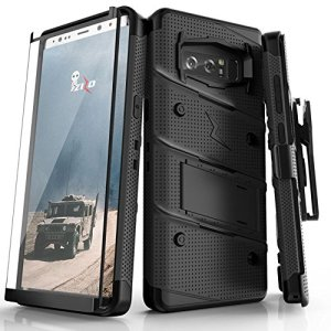 Equip your Samsung Galaxy Note 8 with military grade protection and superb functionality with the ultra-rugged Bolt case in black from Zizo. Coming complete with a handy belt clip and integrated kickstand.