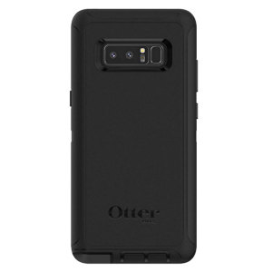 Schützen Sie Ihr Samsung Galaxy Note 8 mit der robustesten und schützenswertesten Tasche auf dem Markt - der OtterBox Defender Screenless Edition Series in Schwarz.
