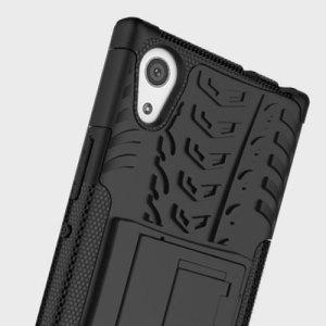Protégez votre Sony Xperia L1 des chocs et des éraflures grâce à cette coque Olixar ArmourDillo en coloris noir. Cette coque est composée d'un boîtier interne en TPU et d'un exosquelette externe résistant aux impacts. Elle comprend par ailleurs un support de visualisation intégré.