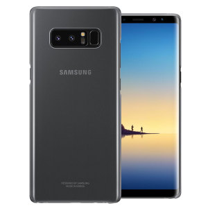 This Official Samsung Clear Cover in black is the perfect accessory for your Galaxy Note 8 smartphone.
