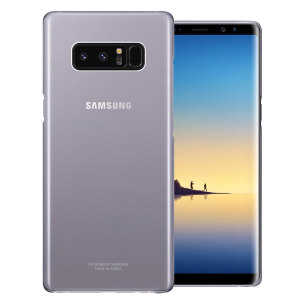 This Official Samsung Clear Cover in orchid grey is the perfect accessory for your Galaxy Note 8 smartphone.