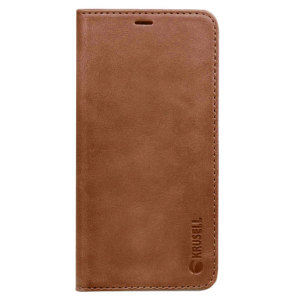The Sunne Folio Wallet Cover from Krusell in cognac offers a classic prestige look for your Samsung Galaxy Note 8. With 4 card slots for cards, cash, ID and more, you can replace your bulky wallet with this elegant, suave and functional wallet case.