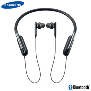 The stylish necklet design on the Samsung U Flex fitness headphones connects wirelessly to your Bluetooth device, allowing you to listen to your music in total comfort - and with excellent sound quality - without having to mess with tangled wires.