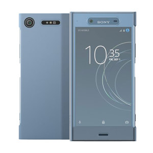 This official Style Cover Touch in blue from Sony houses your Xperia XZ1, providing protection and full functionality through the see-through touchscreen font cover, allowing you to view and action incoming messages and calls.