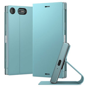 This high quality official bi-fold folio case from Sony houses your Xperia XZ1 Compact smartphone, providing protection and access to your ports and features while incorporating a built-in viewing stand - in blue.