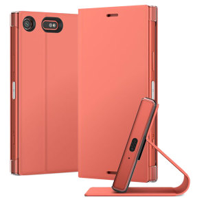 This high quality official bi-fold folio case from Sony houses your Xperia XZ1 Compact smartphone, providing protection and access to your ports and features while incorporating a built-in viewing stand - in pink.