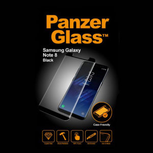 Introducing the premium range PanzerGlass glass screen protector in black. Designed to be shock and scratch resistant, PanzerGlass offers the ultimate protection, while also matching the colour of your stunning Samsung Galaxy Note 8.