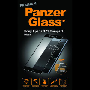 Introducing the premium range PanzerGlass glass screen protector in black. Designed to be shock and scratch resistant, PanzerGlass offers the ultimate protection, while also matching the colour of your stunning Sony Xperia XZ1 Compact.