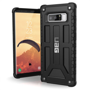 The Urban Armour Gear Monarch in black for the Samsung Galaxy Note 8 is quite possibly the king of protective cases. With 5 layers of premium protection and the finest materials, your Galaxy Note 8 is safe, secure and in some style too.
