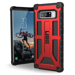 The Urban Armour Gear Monarch in crimson for the Samsung Galaxy Note 8 is quite possibly the king of protective cases. With 5 layers of premium protection and the finest materials, your Galaxy S8 is safe, secure and in some style too.