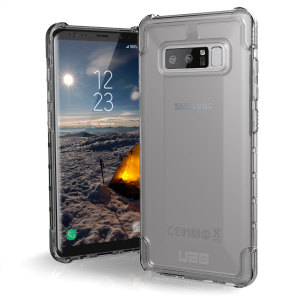 The Urban Armour Gear Plyo semi-transparent tough case in ice for the Samsung Galaxy Note 8 features reinforced Air-Soft corners and an optimised honeycomb structure for superior drop and shock protection.