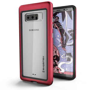 Equip your Samsung Galaxy Note 8 with the most extreme and durable protection around! The red Ghostek Atomic provides rugged drop and scratch protection whilst keeping the phone slim.