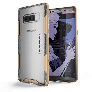 The Cloak 3 Protective case in gold and clear from Ghostek provides your Samsung Galaxy Note 8 with fantastic all round protection.