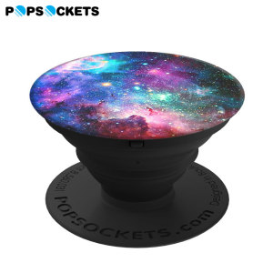 Who said pop is dead? Super-sleek, compact and convenient, this expanding stick-on accessory for all smartphones in blue nebula props up your device so you don't have to. Simply stick PopSockets to the back of your phone, then pull outwards.