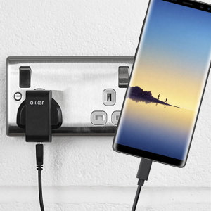 Charge your Samsung Galaxy Note 8 and any other USB device quickly and conveniently with this compatible 2.5A high power USB-C UK charging kit. Featuring a UK wall adapter and USB-C cable.
