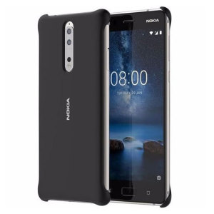 Protect your Nokia 8 with this Official Nokia Soft Touch case. Features a great protection for the back and edges of the phone, whilst a soft back guarantees a comfortable and secure grip. Slightly raised bezel clips protect the screen from scratches.