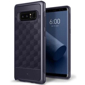 Bescherm je Samsung Galaxy Note 8 met deze prachtige case met meerdere lagen. Dit hardshell hoesje bestaande uit twee lagen is gemaakt van slank materiaal en heeft een aantrekkelijke tweetonige finish met een metalen bumper.