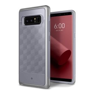 Protect your Samsung Galaxy Note 8 with this stunning premium dual-layered shell case in ocean gray. Made with tough dual-layered yet slim material, this hardshell body with a sleek metallic bumper features an attractive two-tone finish.