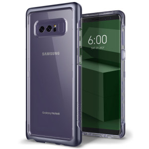Protect your Samsung Galaxy Note 8 with this precision made orchid gray and clear case from Caseology. Made with a robust minimalist ethic, this see-through case offers protection for your phone while still maintaining its natural charms.