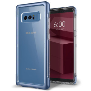 Protect your Samsung Galaxy Note 8 with this precision made blue coral and clear case from Caseology. Made with a robust minimalist ethic, this see-through case offers protection for your phone while still maintaining its natural charms.