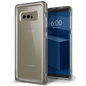 Protect your Samsung Galaxy Note 8 with this precision made warm gray and clear case from Caseology. Made with a robust minimalist ethic, this see-through case offers protection for your phone while still maintaining its natural charms.