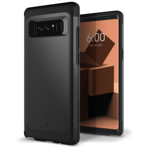 Protect your Samsung Galaxy Note 8 with this stunning tough dual-layered armoured case in charcoal gray. Made with robust dual-layered yet slim material, this TPU body with a sleek outer layer features an attractive two-tone finish.