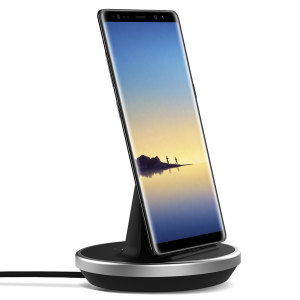 Synchronise and charge your Samsung Galaxy Note 8 with this stylish and case compatible desktop dock which also acts as a multimedia stand. Supports USB-C (USB Type-C).