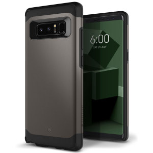 Protect your Samsung Galaxy Note 8 with this stunning tough dual-layered armoured case in warm gray. Made with robust dual-layered yet slim material, this TPU body with a sleek outer layer features an attractive two-tone finish.