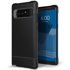Protect your Samsung Galaxy Note 8 with this stunning rugged dual-layered shell case in black. Made with tough dual-layered yet slim material, this TPU body with a sleek metallic outer layer features an attractive two-tone finish.