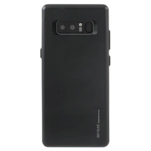 Designed for the Samsung Galaxy Note 8, this black card case from Mercury provides a perfect fit and durable protection against scratches, knocks and drops with the added convenience of a credit card-sized sliding slot.