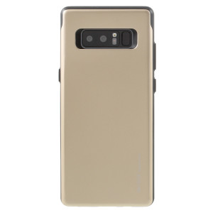 Designed for the Samsung Galaxy Note 8, this gold card case from Mercury provides a perfect fit and durable protection against scratches, knocks and drops with the added convenience of a credit card-sized sliding slot.