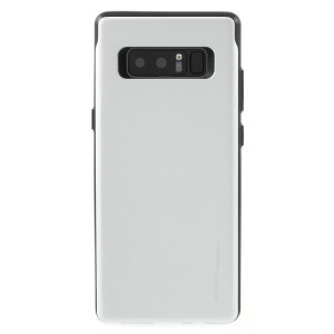 Designed for the Samsung Galaxy Note 8, this silver card case from Mercury provides a perfect fit and durable protection against scratches, knocks and drops with the added convenience of a credit card-sized sliding slot.