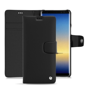 Keep your Samsung Galaxy Note 8 well protected from damage with this high quality, beautifully hand-crafted genuine black leather wallet case from Noreve. The perfect blend of premium style and functionality.