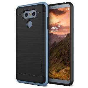 Protect your LG G6 with this precisely designed high pro shield series case in blue mist from VRS Design. Made with tough dual-layered yet slim material, this hardshell body with a sleek bumper features an attractive two-tone finish.