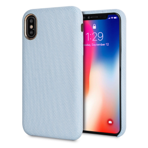 Protect your iPhone X in style with the LoveCases Pretty in Pastel cover in blue. A stylish, sleek denim fabric design meets a hard-wearing, durable frame to create a case that's not only highly fashionable, but highly protective, too.