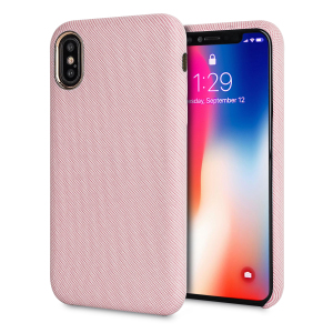 Protect your iPhone X in style with the LoveCases Pretty in Pastel cover in pink. A stylish, sleek denim fabric design meets a hard-wearing, durable frame to create a case that's not only highly fashionable, but highly protective, too.