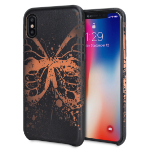 Enhance and protect your iPhone X with this gorgeous and unique black case from LoveCases. Your iPhone fits perfectly into the secure, lightweight frame, while a beautiful butterfly pattern emerges when heat is transferred from your hand to the case.