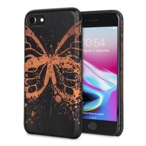 Enhance and protect your iPhone 8 / 7 with this gorgeous and unique black case from LoveCases. Your iPhone fits perfectly into the secure, lightweight frame, while a beautiful butterfly pattern emerges when heat is transferred from your hand to the case.