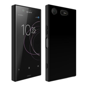 Custom moulded for the Sony Xperia XZ1, this solid black FlexiShield case by Olixar provides slim fitting and durable protection against damage.
