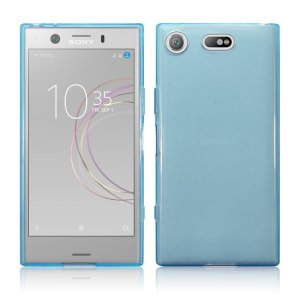 Custom moulded for the Sony Xperia XZ1, this blue FlexiShield case by Olixar provides slim fitting and durable protection against damage.