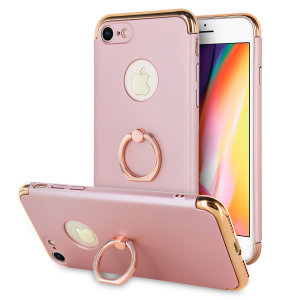 Custom made for the iPhone 8 / 7, this rose gold X-Ring case from Olixar provides excellent protection and a handy finger loop to keep your phone in your hand, whether from accidental drops or attempted theft.