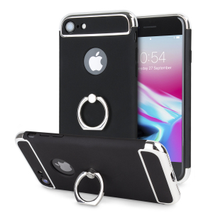Custom made for the iPhone 8 / 7, this black and silver XRing case from Olixar provides excellent protection and a handy finger loop to keep your phone in your hand, whether from accidental drops or attempted theft.
