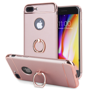 Custom made for the iPhone 8 Plus / 7 Plus, this rose gold XRing case from Olixar provides excellent protection and a handy finger loop to keep your phone in your hand, whether from accidental drops or attempted theft.