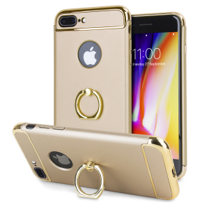 Custom made for the iPhone 8 Plus / 7 Plus, this gold XRing case from Olixar provides excellent protection and a handy finger loop to keep your phone in your hand, whether from accidental drops or attempted theft.