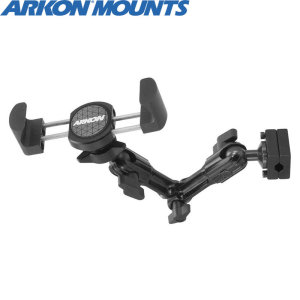 This heavy-duty, robust and versatile in-car headrest mount is perfect for viewing any small to mid-sized device in your vehicle, including the Nintendo Switch, phones and 8-inch tablets. An arm and swivel mechanism provides ultimate flexibility.
