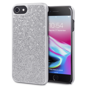 Indulge your iPhone 8 / 7 / 6S / 6 with this luxurious silver case from LoveCases. Your iPhone fits perfectly into the secure, durable frame, while a shimmering curtain of gems adorns the back, adding a touch of class to your already-gorgeous device.