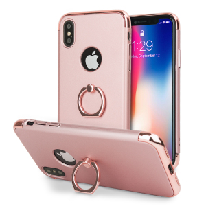 Custom made for the iPhone X, this rose gold and silver X-Ring case from Olixar provides excellent protection and a handy finger loop to keep your phone in your hand, whether from accidental drops or attempted theft.