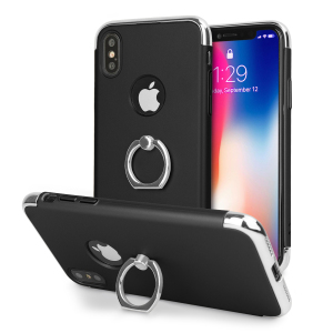 Custom made for the iPhone X, this black and silver XRing case from Olixar provides excellent protection and a handy finger loop to keep your phone in your hand, whether from accidental drops or attempted theft.